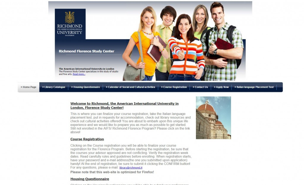 gestionale web Richmond University