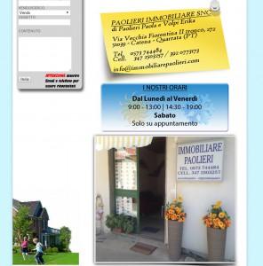 Realizzazione Sito web agenzia immobiliare http://www.immobiliarepaolieri.com/